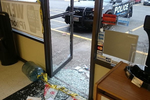 a store that was broken into