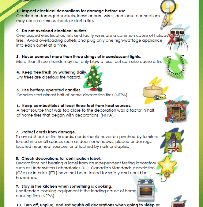 Top 10 Holiday Safety Tips