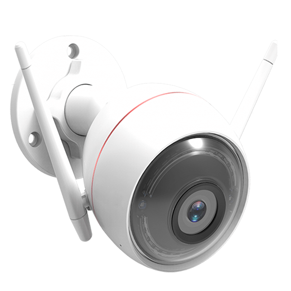 an outdoor home security camera