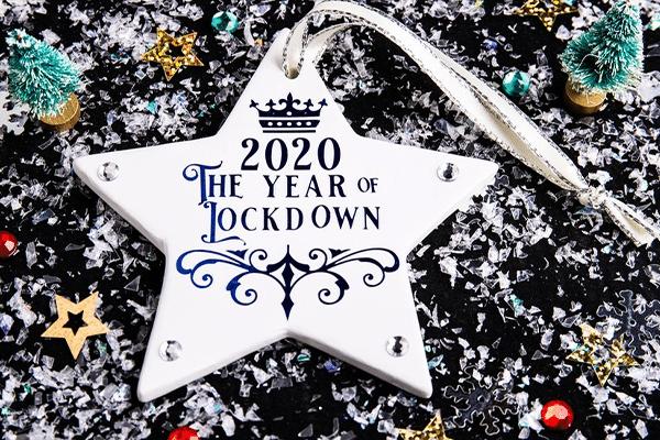 2020 lockdown ornament