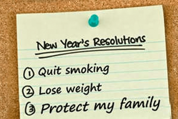 a list of New Year's Resolutions