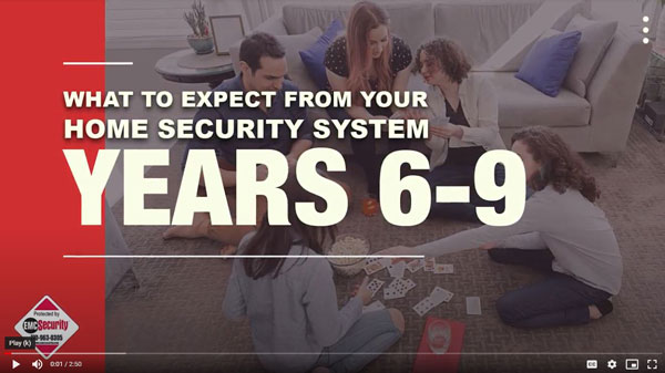 what to expect from your home security system 6-9 years