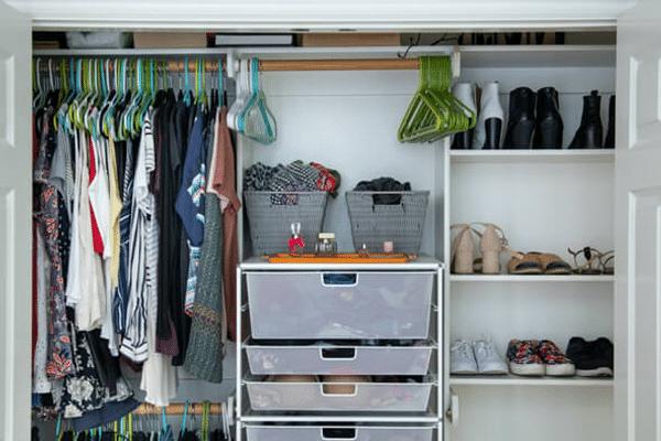 a full closet