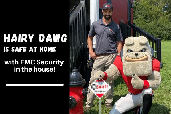 Hairy Dawg of UGA uses EMC security